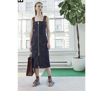 NWT EDUN indigo denim apron dress